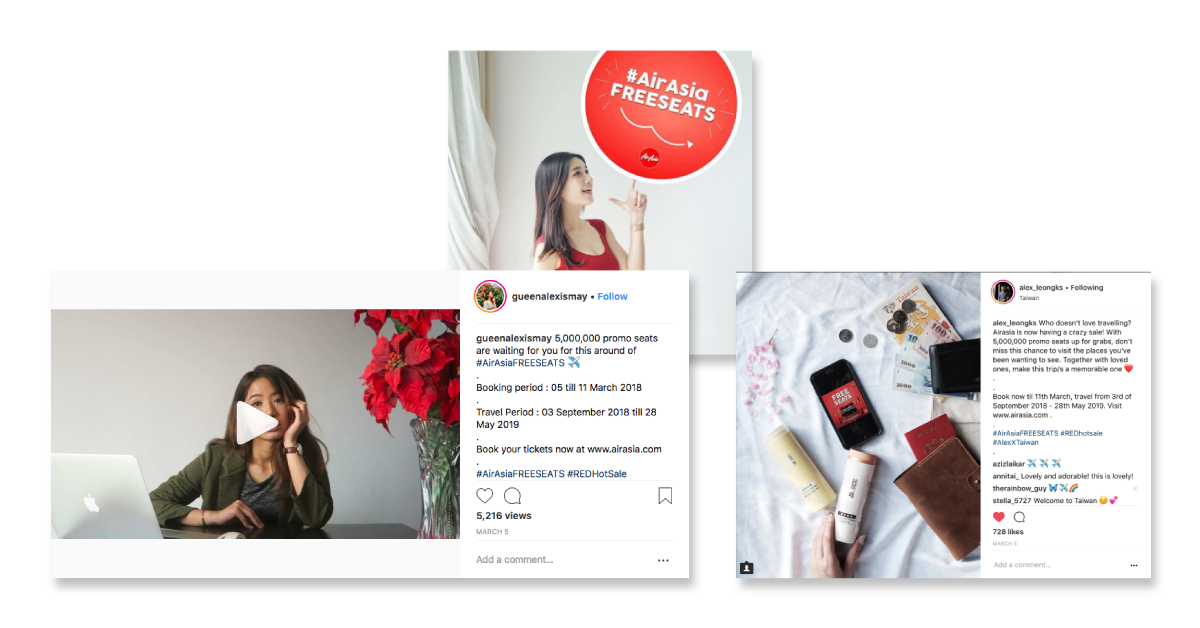 10 Creative Ways To Run Influencer Marketing and Branded Content Campaigns - AirAsia case study