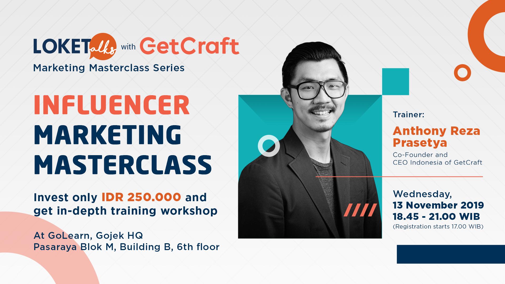 GetCraft Loketalks Influencer Marketing Masterclass